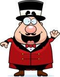 Cartoon Circus Ringmaster Waving Stock Photos