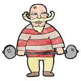 Cartoon circus strongman Royalty Free Stock Photography