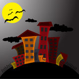 Cartoon city Stock Image