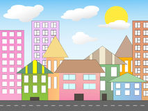 Cartoon_city Stock Images