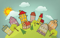 Cartoon city Stock Photography