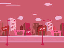 Cartoon city background Royalty Free Stock Photos