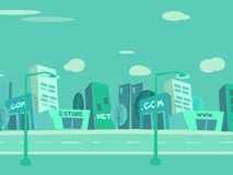 Free Cartoon City Background Stock Image - 9538171