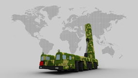 ballistic missile system stock video footage
