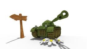 cartoon tank stock illustration