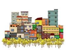 Cartoon city Royalty Free Stock Images