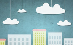 Cartoon city illustration Stock Images
