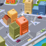 Cartoon City Traffic Royalty Free Stock Photos