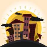 Cartoon city vector. Vector illustration of cartoon city Royalty Free Stock Image