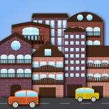 Cartoon city. Vector illustration of cartoon city Stock Photo