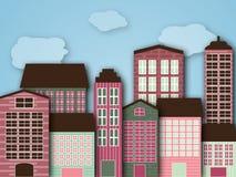 Cartoon city Stock Photo