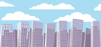 Cartoon cityscape background. Stock Photography