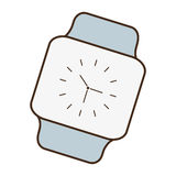 Cartoon classic analog watch wearable technology. Vector illustration eps 10 Royalty Free Stock Photography
