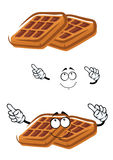Cartoon classic sugar waffle character Stock Image