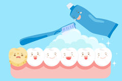 Cartoon clean tooth. For your health concept royalty free illustration