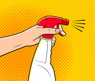 cartoon cleaning spray Royalty Free Stock Photo
