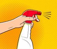 cartoon cleaning spray Royalty Free Stock Photo