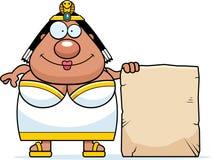 Cartoon Cleopatra Sign Royalty Free Stock Images