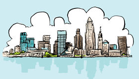 Cartoon Cleveland Royalty Free Stock Photo