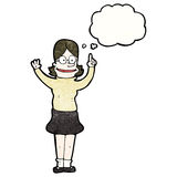 Cartoon clever woman Stock Images