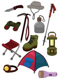 Cartoon climb equipment icon Royalty Free Stock Image