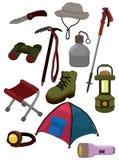 Cartoon climb equipment icon. Drawing Royalty Free Stock Image