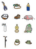 Cartoon Climbing equipment icon Royalty Free Stock Photos