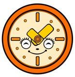 Cartoon clock Stock Images