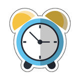 Cartoon clock time alarm hour Royalty Free Stock Images