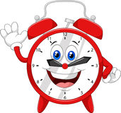 Cartoon clock waving hand Royalty Free Stock Photos