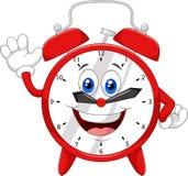 Cartoon clock waving hand Royalty Free Stock Photos