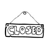 Cartoon closed shop sign Stock Image