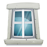 Cartoon Closed Window Royalty Free Stock Photography