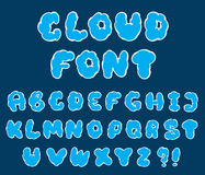 Cartoon cloud font Stock Photos