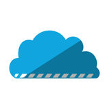 Cartoon cloud load file data. Vector illustration eps 10 Stock Image