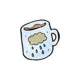 cartoon cloud pattern coffee mug Royalty Free Stock Images