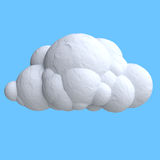 Cartoon cloud from plasticine or clay Royalty Free Stock Photo