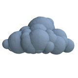 Cartoon cloud from plasticine or clay. Royalty Free Stock Image