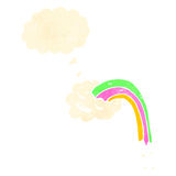 Cartoon cloud with rainbow Royalty Free Stock Photos