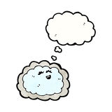 Cartoon cloud with silver lining Royalty Free Stock Photography