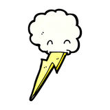 cartoon cloud spitting lighning bolt Stock Photography