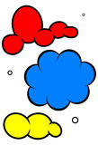 Cartoon cloud vector illustration set Stock Image