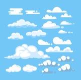 Cartoon cloud vector set Royalty Free Stock Photography