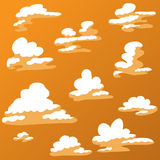 Cartoon Cloud in warm color Stock Photos