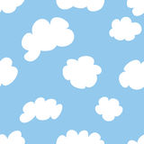 Cartoon Clouds. Seamless repeating cartoon cloud pattern royalty free illustration