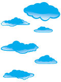 Cartoon clouds Royalty Free Stock Photography