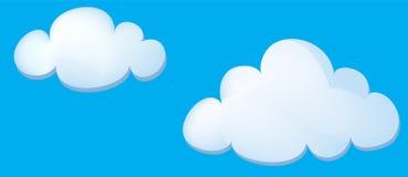 Cartoon clouds  Stock Photography