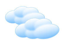 Cartoon clouds. Clouds in cartoon style Stock Images