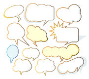 Cartoon clouds. Dialog fields for advertisement, promotion etc Royalty Free Stock Images
