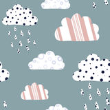 Cartoon clouds background Stock Photos
